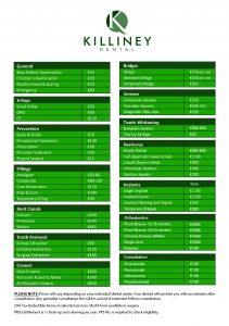 Killiney-Dental-Price-list_2018